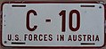 US-Forces-in-Austria USFA 1952 license plate C-10.jpg