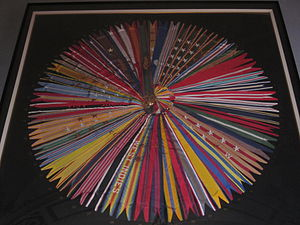 Campaign streamer - Display of streamers from the Flag of the United States Marine Corps