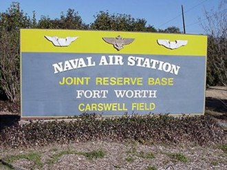 Naval Air Station Fort Worth Joint Reserve Base - Entrance sign to NAS JRB Fort Worth