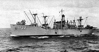 USS Altair (AK-257) - Image: USS Altair (AKS 32) underway c 1960