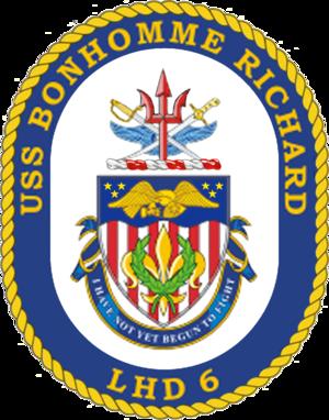 USS Bonhomme Richard (LHD-6) - Image: USS Bonhomme Richard COA