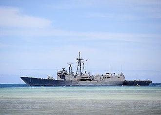 USS Gary (FFG-51) - USS Gary (FFG-51) leaves Pearl Harbor in July 2014