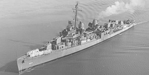 USS Izard (DD-589) off Charleston SC in 1943