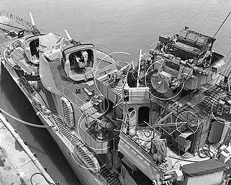 Mahan-class destroyer - Image: USS Mahan 24 June 1944