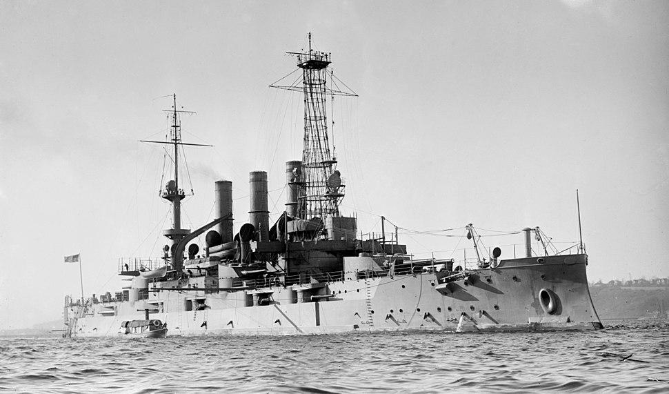 USS New Hampshire c1910 LOC ggbain 04455
