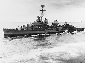 USS Norman Scott (DD-690) at sea in October 1945.jpg