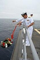 USS Wahoo wreath-laying 20070708