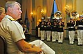 US Navy 051007-N-6843I-045 Commander, U.S. Pacific Fleet, Adm. Gary Roughead, watches a performance by the Marine Corps Air Ground Combat Center Band 29 Palms.jpg