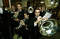 US Navy 051130-N-9693M-004 The U.S. Naval Academy Drum and Bugle Corps plays during a Pep-Rally.jpg