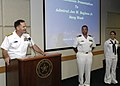 US Navy 071003-N-5208T-007 Rear Adm. John W. Bayless, commander of Navy Region Midwest, accepts the Dallas Navy Proclamation at Dallas City Hall.jpg