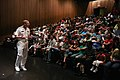 US Navy 090703-N-3271W-017 Commander, Naval Sea Systems Command, Vice Adm. Kevin M. McCoy, delivers a speech on U.S. maritime strategy to visitors at the Museum of Science.jpg