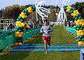 US Navy 100411-N-9860Y-008 Lt. Zachary Scheetz crosses the finish line as he completes a half-marathon at Windjammer Park during the 9th Annual Whidbey Island Marathon-Half-Marathon.jpg