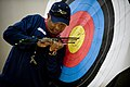 US Navy 100511-N-6932B-157 Chief Electricians Mate Peter Allen Johns retrieves his arrows while practicing for the archery competition at the inaugural Warrior Games in Colorado Springs, Colo.jpg