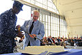 US Navy 100625-N-8878B-104 Retired Cmdr. Donald J. Hayes and ircrew Survival Equipmentman Airman Jason Henry cut the cake during the 50th anniversary of the establishment of the squadron.jpg