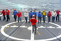 US Navy 110626-N-PB383-001 Sailors assigned to the guided-missile frigate USS McClusky (FFG 41) conduct a foreign object damage walk down.jpg