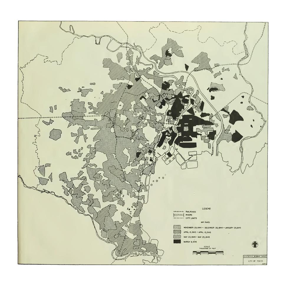 US Strategic Bombing of Tokyo 1944-1945
