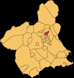 Ulea - Location of Ulea in Region of Murcia.