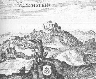 Ulrichstein -  Excerpt from the Topographia Hassiae by Matthäus Merian 1655