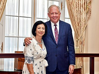 Thomas A. Shannon Jr. - Shannon with his wife Guisela Shannon upon his retirement from the State Department in 2018