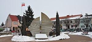 Uniejów - Image: Uniejów Rynek panorama