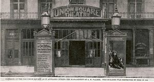 Vera; or, The Nihilists - Image of the original Union Square Theatre in New York. This building burnt down in 1888 and is not to be confused with the modern Union Square Theatre.