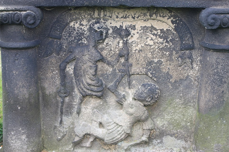 Unique body snatching headstone, Stirling, 1823
