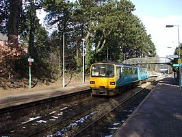 Unit 143616 at Hengoed railway station in 2009.jpg