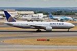 United Airlines, N229UA, Boeing 777-222 ER (43687773174).jpg