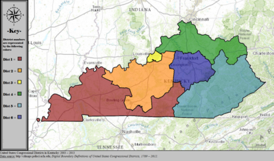 United States Congressional Districts in Kentucky, 2003 – 2013.tif