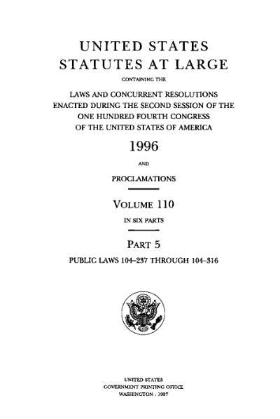 File:United States Statutes at Large Volume 110 Part 5.djvu