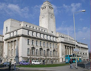 University of Leeds, Parkinson Building with t...