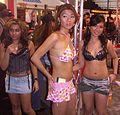 Unknown starlet at 2007 AEE Friday 28.JPG