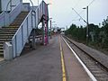 Upminster station bay platform 1a look east.JPG