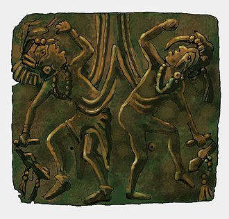 Illinois - Mississippian copper plate found at the Saddle Site in Union County, Illinois