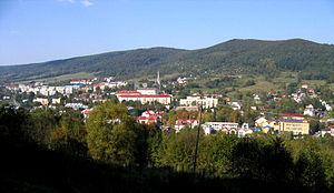 Ustrzyki Dolne - Ustrzyki Dolne panorama