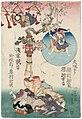 Utagawa Kunisada II - Acrobats Sakuratsuna Komaju and Sakutratsuna Kôkichi from Osaka Performing in the Inner Precinct at Asakusa Kannon.jpg