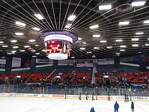 Adirondack Bank Center - Interior of the Utica Memorial Auditorium during a game between Lake Erie Monsters vs. Utica Comets on December 15, 2013.