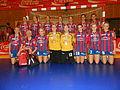 VB Vágur womens handball team with silver medals 2013.JPG