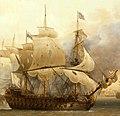 Vaisseau français le Saint-Esprit au combat en 1782.jpg
