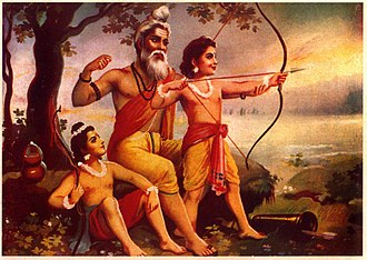 Lava (Ramayana) - Valmiki train Lava Kushas in Art of Archery