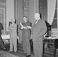 Van links naar rechts Jhr. Willem Sandberg, Mr. H.W.A. Heldring en Ir. Vincent …, Bestanddeelnr 254-3811.jpg
