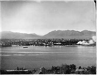 History of Vancouver - View of Downtown Vancouver from Fairview in 1904.