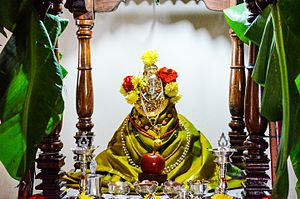 Varalakshmi Vratam - A typical view of the Varalakshmi Vrata puja