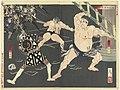 Vechtpartij tussen brandweermannen en sumo worstelaars bij de Shinmei tempel-Rijksmuseum RP-P-1990-146.jpeg