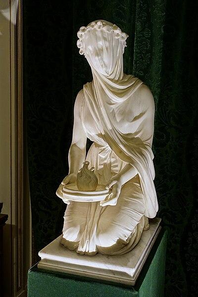 File Veiled Vestal By Raffaelle Monti 1847 Marble