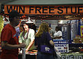 Vendors offer their services and products to runners during the Healthy Lifestyle Expo at the Fredericksburg Expo and Conference Center, in Fredericksburg VA., May 17, 2013 130517-M-ML300-554.jpg