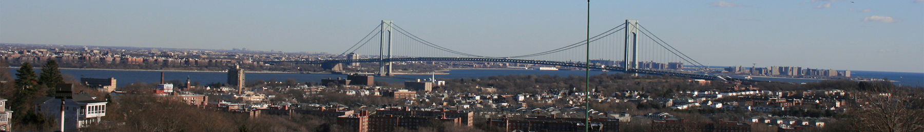 The Verrazano-Narrows Bridge as seen from Staten Island