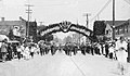 Victory Parade on Colborne Street (now Lakeshore Rd) to celebrate the return of Great War soldiers, c. 1919 (27394096636).jpg