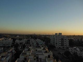 Motera Area in Northwest Ahmedabad in Gujarat, India