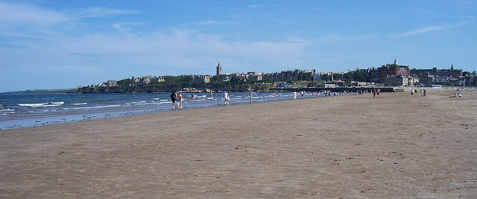 View of St Andrews from the West Sands
